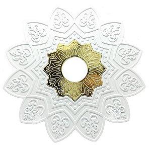 Prato EBS Hookah One P 18cm - Branco/Dourado