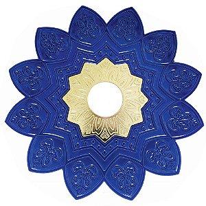 Prato EBS Hookah One P 18cm - Azul Escuro/Dourado