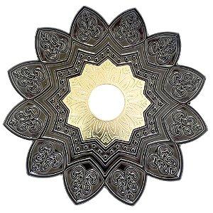 Prato EBS Hookah One P 18cm - Chumbo/Dourado