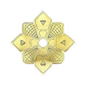 Prato Diamond Hookah Mini - Dourado