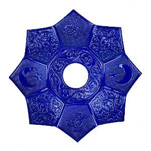 Prato EBS Hookah Zamac Lotus M 22cm - Azul/Azul