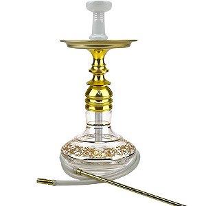Kit Narguile Completo Kombat Dourado KIT261