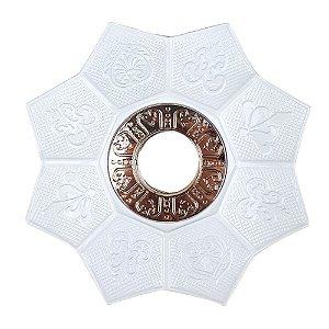 Prato EBS Hookah New Lotus P 18cm - Branco/Dourado