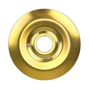 Prato PK Hookah Médio 19cm - Dourado