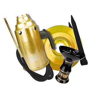 Kit Acessórios para Narguile - Dourado com Preto KIT04
