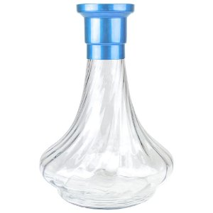 Vaso MDI Hookah Genie 26CM Rigado - Azul Claro/Clear