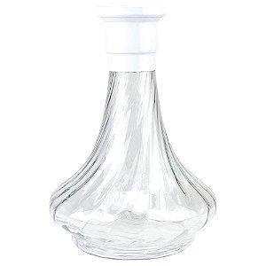 Vaso MDI Hookah Genie 26CM Rigado - Branco/Clear