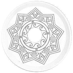 Prato ZH Tribal Médio 19cm - Branco