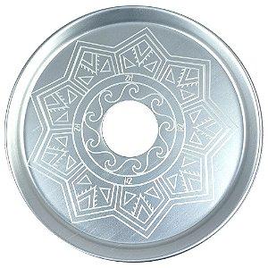 Prato ZH Tribal Médio 19cm - Branco Gelo
