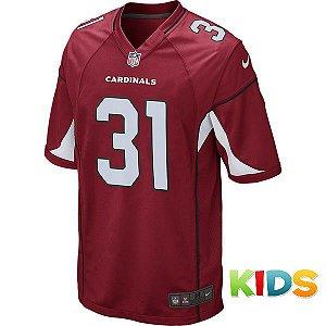 Camisa Infantil NFL Arizona Cardinals Futebol Americano #31 Johnson