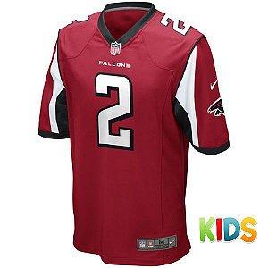 Camisa Infantil NFL Atlanta Falcons Futebol Americano #2 Ryan
