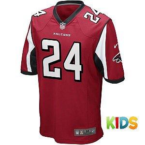 Camisa Infantil  NFL Atlanta Falcons Futebol Americano #24 Freeman