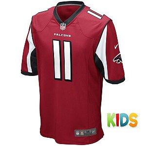 Camisa Infantil  NFL Atlanta Falcons Futebol Americano #11 Jones