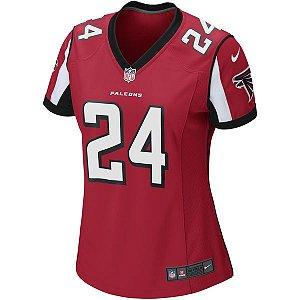 Camisa Feminina NFL Atlanta Falcons Futebol Americano #24 Freeman