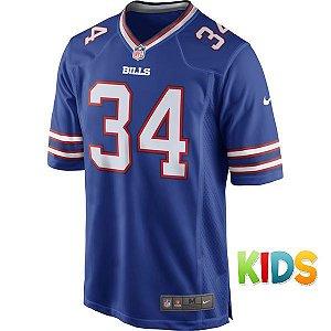 Camisa Infantil NFL Buffalo Bills Futebol Americano #34 Thomas