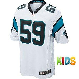 Camisa Infantil NFL Carolina Panthers Futebol Americano #59 Kuechly