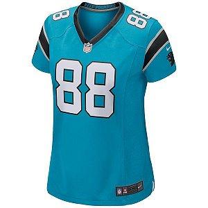 Camisa Feminina NFL Carolina Panthers Futebol Americano #88 Olsen