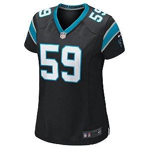 Camisa Feminina NFL Carolina Panthers Futebol Americano #59 Kuechly