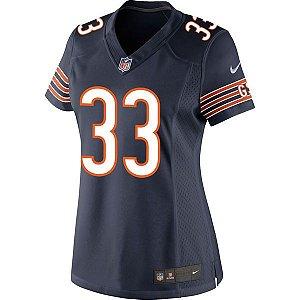 Camisa Feminina NFL Chicago Bears Futebol Americano #33 Tilman