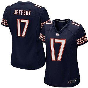 Camisa Feminina NFL Chicago Bears Futebol Americano #17 Jeffery
