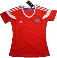 Camisa Feminina Seleção Russia Home Copa do Mundo 2018 - PERSONALIZAÇÃO E FRETE GRÁTIS