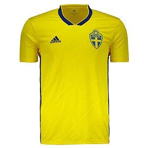Camisa Seleção Suécia Home Copa do Mundo 2018 - Personalização e Frete Grátis