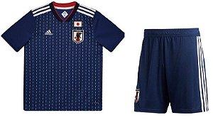 Kit Infantil Seleção Japão Home Copa do Mundo 2018 - Super Lançamento - Personalização e frete grátis