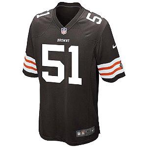 Camisa NFL Cleveland Browns Barkevious Futebol Americano #51 Mingo