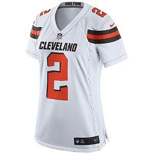 Camisa Feminina NFL Cleveland Browns Futebol Americano #2 Joe Haden