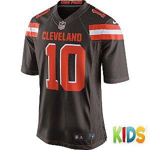 Camisa NFL Infantil Cleveland Browns Futebol Americano #10 Robert Griffin III