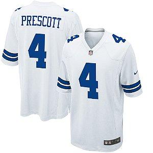 Camisa NFL Dallas Cowboys Futebol Americano #4 Dak Prescott