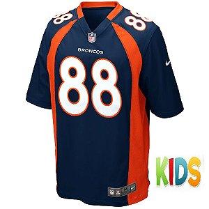 Camisa NFL Infantil Denver Broncos Futebol Americano #88 Demaryius Thomas