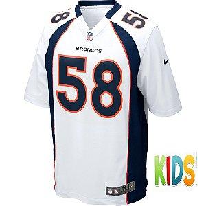 Camisa NFL Infantil Denver Broncos Futebol Americano #58 Von Miller