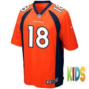 Camisa NFL Infantil Denver Broncos Futebol Americano #18 Von Miller
