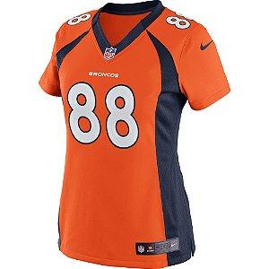 Camisa NFL Feminina Denver Broncos Futebol Americano #88 Demaryius Thomas