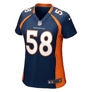 Camisa NFL Feminina Denver Broncos #58 Von Miller