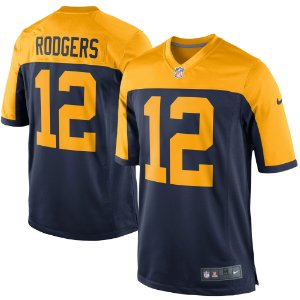 Camisa NFL Green Bay Packers Futebol Americano #12 Aaron Rodgers