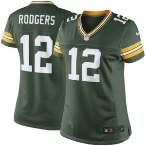 Camisa Feminina Green Bay Packers Nfl Futebol Americano #12 Rodgers Rodgers Frete Grátis