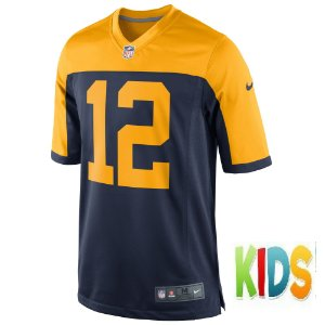 Camisa NFL Infantil Green Bay Packers Futebol Americano #12Aaron Rodgers