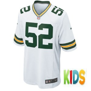 Camisa NFL Infantil Green Bay Packers Futebol Americano #52 Clay Matthews