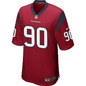 Camisa NFL Houston Texans Futebol Americano #90 Jadeveon Clowney