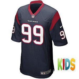 Camisa NFL Infantil Houston Texans Futebol Americano #99 JJ Watt