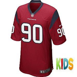 Camisa NFL Infantil Houston Texans Futebol Americano #90 Jadeveon Clowney