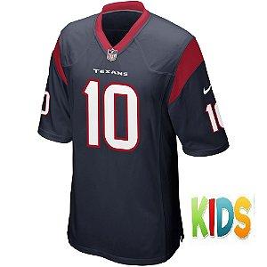 Camisa NFL Infantil Houston Texans Futebol Americano #10 DeAndre Hopkins
