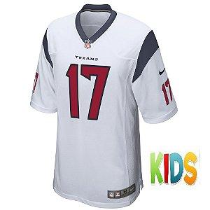 Camisa NFL Infantil Houston Texans Futebol Americano #17 Brock Osweiler
