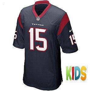 Camisa NFL Infantil Houston Texans Futebol Americano #15 Will Fuller