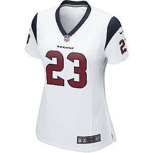 Camisa NFL Feminina Houston Texans Futebol Americano #23  Arian Foster