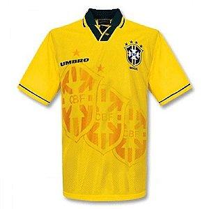 Camisa Seleção Brasil Retro Copa 1994 - Personalização e Frete Grátis