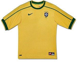 Camisa Seleção Brasil Retro Copa 1998 - Personalização e Frete Grátis