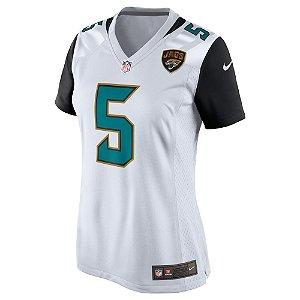 Camisa NFL Feminina Jacksonville Jaguars Futebol Americano #5 Blake Bortles